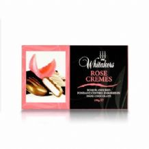 Whitakers Plain Chocolate Rose Cremes 150g